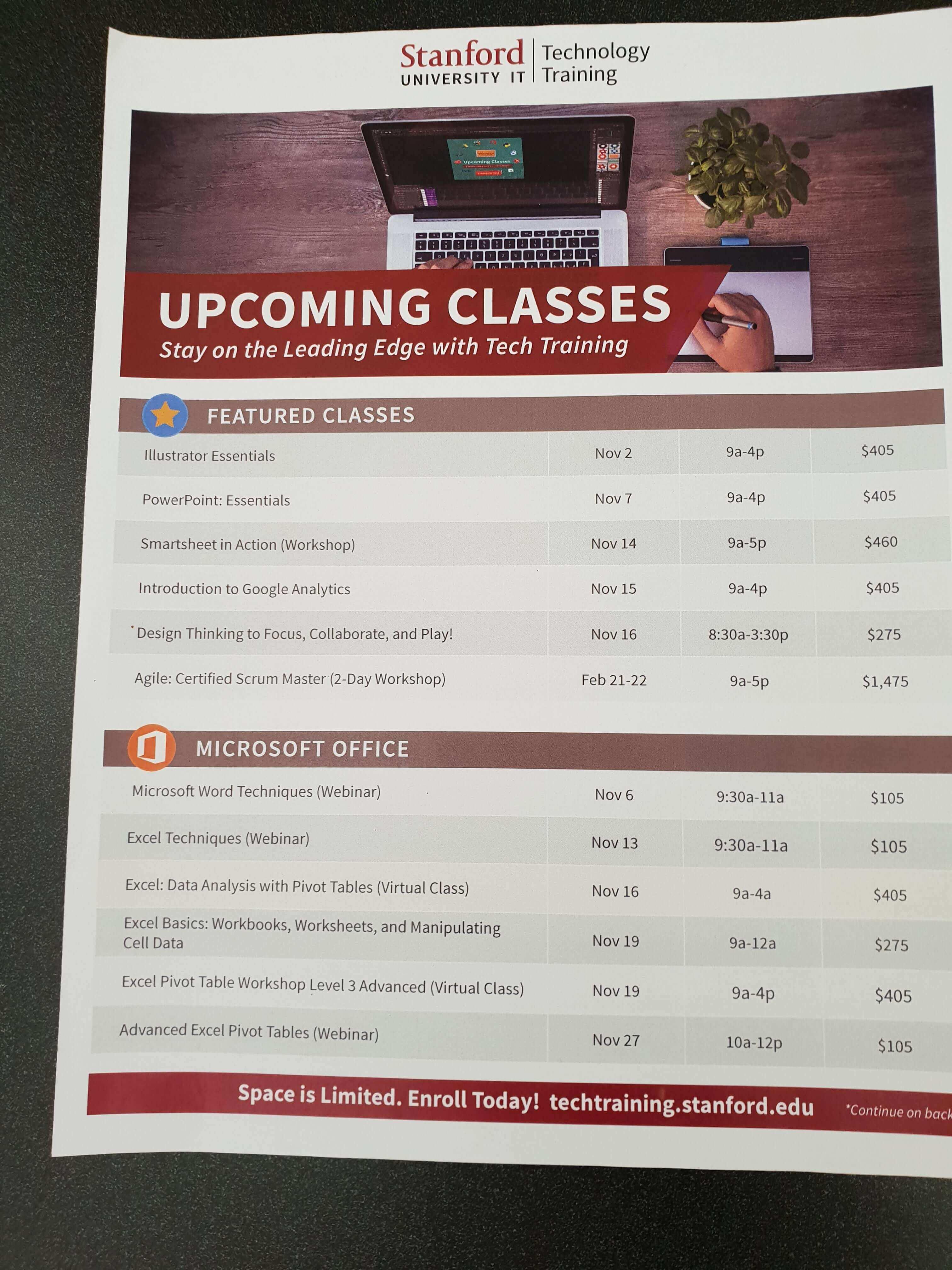Agenda Tech Training Stanford University IT